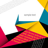 Designed modern layout. Designed modern layout with typography Royalty Free Stock Images