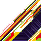 Designed modern layout. Designed modern layout with colorful stripes Royalty Free Stock Photo