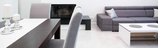 Designed modern living room stock image