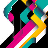 Designed modernistic abstraction. Designed modernistic abstraction in color Stock Image