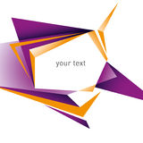 Designed modernistic layout. Designed modernistic layout with geometric forms Stock Photos