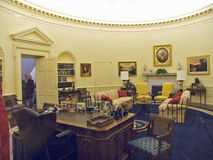 Designed by New York architect James Polshek, the William J. Clinton Presidential Library includes a replica of the Oval Office. Stock Photos
