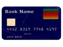 Designed plastic card Stock Image