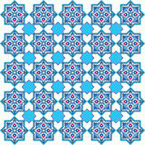 Designed with shades of blue ottoman pattern series five. Blue patterns series designed utilizing the old Ottoman motifs Royalty Free Stock Images