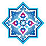 Designed with shades of blue ottoman pattern series four. Blue patterns series designed utilizing the old Ottoman motifs Stock Photos