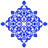 Designed with shades of blue ottoman pattern series one. Blue patterns series designed utilizing the old Ottoman motifs Royalty Free Stock Image