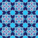 Designed with shades of blue ottoman pattern series six. Blue patterns series designed utilizing the old Ottoman motifs Royalty Free Stock Photography