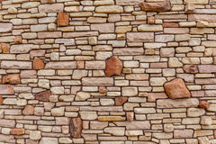 Designed Stone Wall Royalty Free Stock Photos