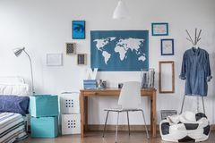 Designed study room Stock Images