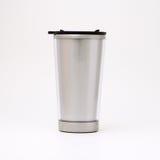 Designed thermal mug. Designed simple stainless thermal mug Stock Photos