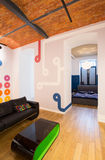 Designed wall inside apartment Royalty Free Stock Images