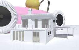DesignedToy house Stock Photo