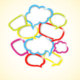 Designelement av färgrika bubblor Arkivfoton