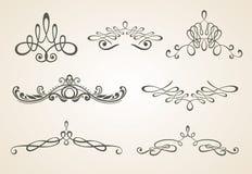 designelement inramniner pag-scrollstappning Royaltyfria Foton