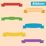designelementband ställde in vektorn färgrikt royaltyfri illustrationer