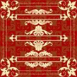designelementformat som där ställs in Royaltyfria Foton
