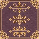 designelementformat som där ställs in Royaltyfri Bild
