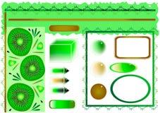 designelementkiwi Royaltyfri Bild