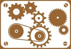 designelementmaskin stock illustrationer