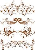 designelementprydnadar Royaltyfria Bilder