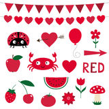 Designelements i röd färg Royaltyfri Bild