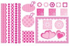 designelementscrapbook Royaltyfri Fotografi