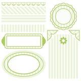 designelementset stock illustrationer