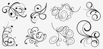 designelementset vektor illustrationer
