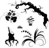 designelementskog royaltyfri illustrationer
