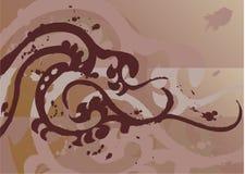 designelementtatuering royaltyfri illustrationer