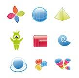 designelementwebsite Royaltyfri Bild