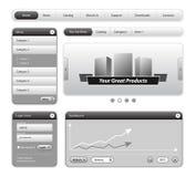 designelementwebsite Arkivfoton
