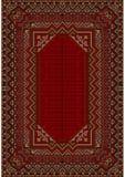 Designen av den gamla mattan i röda signaler Arkivfoto
