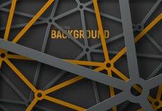 Designen av den teknologiska bakgrunden med simhudsförsett i svart royaltyfri illustrationer