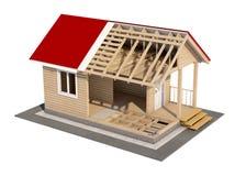 Designen av huset Arkivfoto