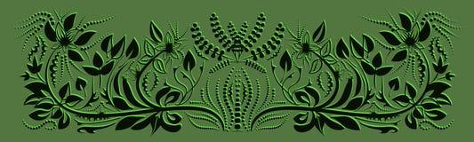Designen av korten blom- design Fotografering för Bildbyråer