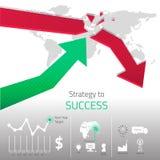 Designen av strategi till framgång med objektdetaljen Royaltyfri Fotografi