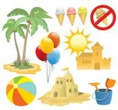 designen elemen sommarsemester vektor illustrationer