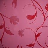 Designen för den blom- tapeten i en själv mönstrade burgundy eller lilor Arkivfoton
