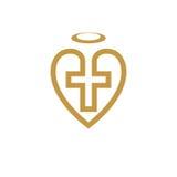 Designen för den gudChristian Love kombinerade den begreppsmässiga logoen med Christia Royaltyfri Bild