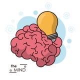 Designen för energi för inspiration för idé för meningshjärnkula Arkivbild