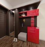Designen för Hall framför den moderna stilinre, 3D Royaltyfri Fotografi