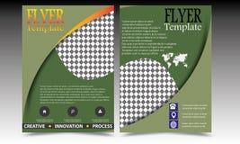 Designen för mallen för reklambladet för broschyren för vektorårsrapportbroschyren, bokomslagorienteringsdesign, abstrakta mallar Royaltyfri Fotografi