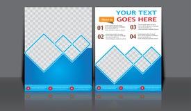 Designen för mallen för reklambladet för broschyren för vektorårsrapportbroschyren, bokomslagorienteringsdesign, abstrakta mallar Fotografering för Bildbyråer