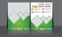 Designen för mallen för reklambladet för broschyren för vektorårsrapportbroschyren, bokomslagorienteringsdesign, abstrakta mallar Arkivbild