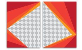 Designen för mallen för reklambladet för broschyren för vektorårsrapportbroschyren, bokomslagorienteringsdesign, abstrakta mallar Royaltyfri Bild