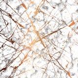 Designen för vektormarmortextur med guld- plaskar linjer, svartvit marmorera yttersida, modern lyxig bakgrund royaltyfri illustrationer