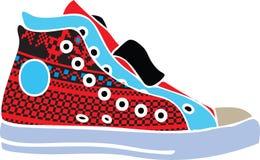 designen shoes sportvektorn Stock Illustrationer