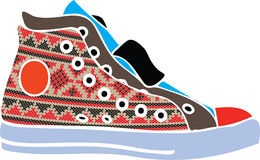designen shoes sportvektorn Vektor Illustrationer