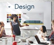 Designen väljer begrepp för diagram för färgpalett Arkivbild